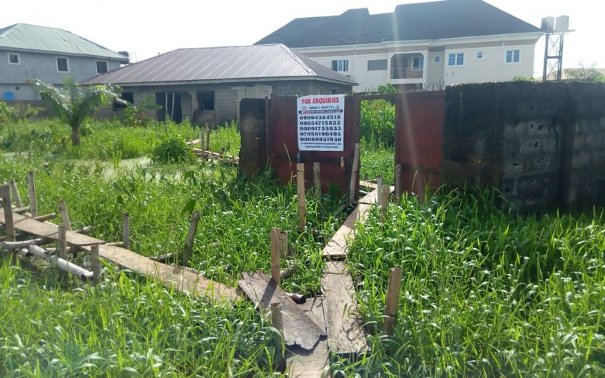 4 Bedroom Bungalow (Uncompleted With Roofing) on a land of 1359m2.