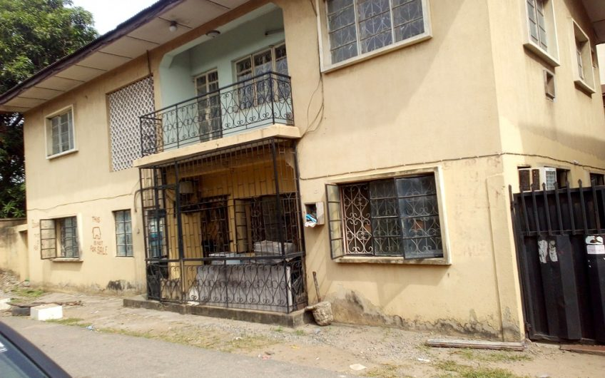 FOR SALE: A storey building comprising of 2(No) 4bedroom flat